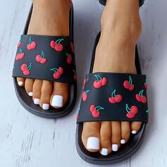 De mujer plástica Tacón plano Sandalias Pantuflas con Otros zapatos
