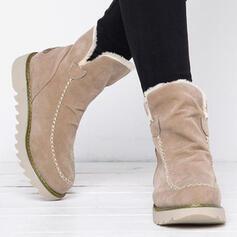 De mujer Ante Tipo de tacón Botas de nieve Botas de invierno con Piel Sintética Color sólido zapatos