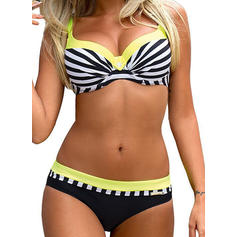 Stripe Strap Fashionable Plus Size Bikinis Swimsuits