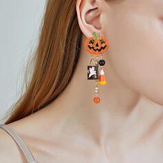 Halloween Dýně Slitina S Střapce Náušnice 2 ks
