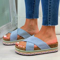 De mujer Ante Tacón plano Sandalias con Color sólido zapatos