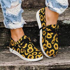 Naisten Kankaalla Matalakorkoiset Heel Matalakorkoiset Round Toe jossa Käyttää Splice väri kengät