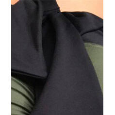 Color sólido Anudado Leggings deportivos