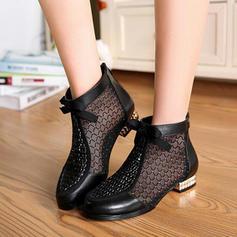 De mujer Piel Tacón bajo Botas con Otros zapatos