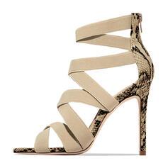 Σανδάλια Γοβάκια Ανοιχτά σανδάλια toe Με Αποτύπωμα ζώου Φερμουάρ παπούτσια