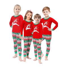 Ren Print Matchande familj Jul Pyjamas