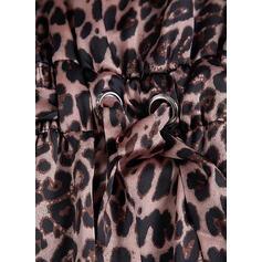 Leopard Sleeveless Sheath Slip Sexy/Casual/Vacation Midi Dresses