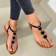 De mujer PU Tacón plano Sandalias Encaje Chancletas con Apliques zapatos
