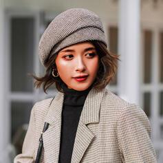 Kvinder Elegant/Charmen/Kunstnerisk Bomuld med Hør Fedora Hat