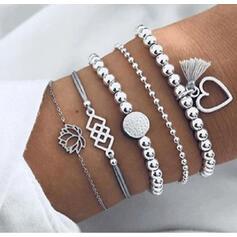 Stylish Charming Alloy Bracelets (Set of 5 pairs)