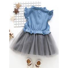 Chicas Estar de pie Botones Casual Lindo Vestido