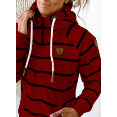 Striped Long Sleeves Hoodie