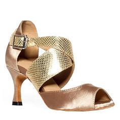 De mujer Danza latina Tacones Satén con Cordones zapatos de personaje