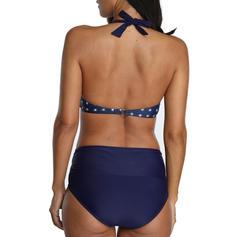 Punct Imprimeu Paisley Se leagă după gât La modă Retro Bikini Mayolar