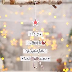 Merry Christmas Hanging Wooden Christmas Pendant Christmas Décor