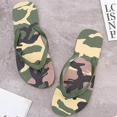De mujer PVC Tacón plano Sandalias Chancletas Pantuflas con Bloque de color zapatos