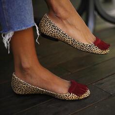 De mujer PU Tacón plano Planos con Borla zapatos