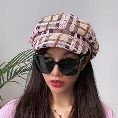 Kvinder Glamourøse/Charmen/Vintage/Kunstnerisk Bomuld med Hør Baret Hat