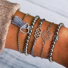 Snygg Charmen alla hjärtans dag Legering Kvinnor Damer' Armband (Sada 5 párov)