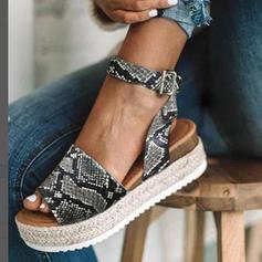 Pentru Femei Imitaţie de Piele Platforme Înalte Sandale Platforme cu Crăpat la încheietură pantofi