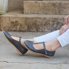 Dla kobiet PU Płaski Obcas Plaskie Zakryte Palce Z Tkanina Wypalana obuwie