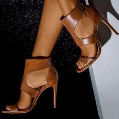 Γυναίκες PU Ψηλό τακούνι Ανοιχτά σανδάλια toe Με Φερμουάρ παπούτσια
