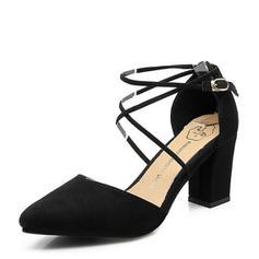 De mujer Ante Tacón ancho Cerrados zapatos