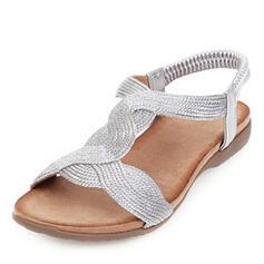 De mujer Cuero de Microfibra Tacón plano Sandalias Planos zapatos