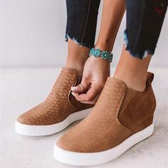 Pentru Femei Imitaţie de Piele Platforme Înalte Platforme cu Bandă Elastică pantofi