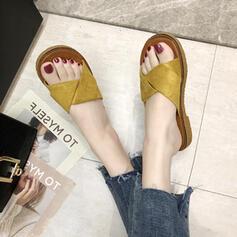 De mujer PU Tacón plano Sandalias Planos Pantuflas zapatos