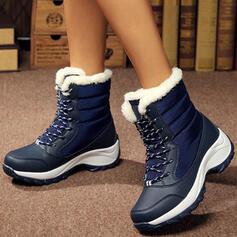 婦人向け キャンバス ウエッジヒール ウェッジ ブーツ 冬用ブーツ とともに レースアップ 靴