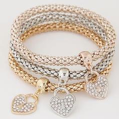 Precioso Aleación Diamantes de imitación con Rhinestone Señoras' Pulseras de Moda (Juego de 3)