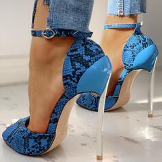 De mujer PU Tacón stilettos Salón con Hebilla Estampado de animales zapatos