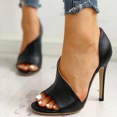 Kvinnor PU Stilettklack Sandaler Pumps Peep Toe Klackar med Andra skor