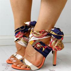 De mujer Tejido Tacón stilettos Sandalias Salón Encaje con Cordón zapatos