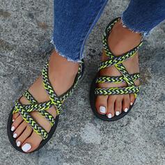 De mujer Tejido Tacón plano Sandalias zapatos