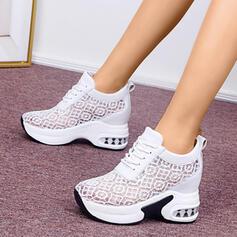 De mujer Encaje PU Casual Atlético Excursionismo con Cordones zapatos