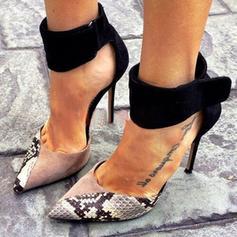 De mujer PU Tacón stilettos Salón con Estampado de animales Cremallera zapatos