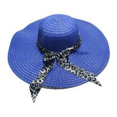 Señoras' Único Rafia paja con Bowknot Sombreros Playa / Sol