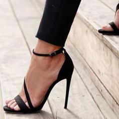 Women's PU Stiletto Heel Sandals Pumps Heels With Buckle shoes