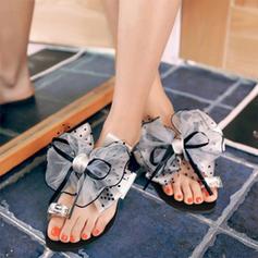 De mujer PU Tacón plano Planos con Bowknot zapatos
