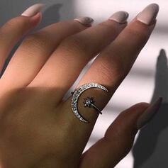 Attraktiv Charmen Elegant konstnärligt Delikat Legering med Minimalistisk Damer' Ringar