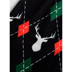 Soby Jelen Tisk Rodinné odpovídající Vánoční pyžama