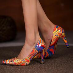 婦人向け PU スティレットヒール ポンプ かかと とともに 印刷 靴