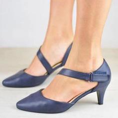 De mujer PU Tacón bajo Sandalias con Velcro zapatos