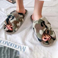 De mujer Piel sintética Tacón plano con Piel zapatos
