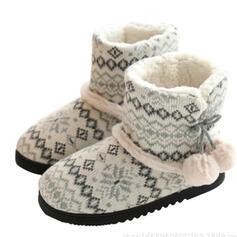 Dámské Tkanina Placatý podpatek Boty do sněhu Kolem špičky Zimní obuv S Splice Color obuv
