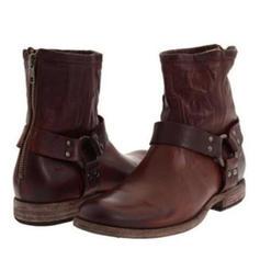 De mujer Cuero Tacón bajo Cerrados Botas Botas longitud media con Rivet zapatos