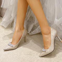 De mujer Brillo Chispeante Tacón stilettos Salón con Rhinestone zapatos