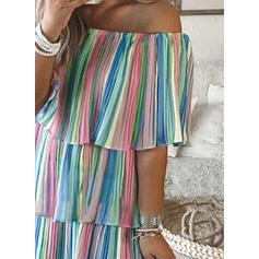 Print 1/2 Sleeves Shift Above Knee Casual/Vacation Dresses